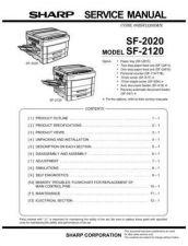 Buy Sharp SF2020-2120 SM DE(1) Service Manual by download Mauritron #209627