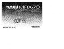 Buy Yamaha MRX-70 Operating Guide by download Mauritron #248816