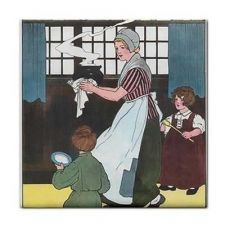 Buy Pease Porridge Hot Food Rhyme Vintage Art Ceramic Tile