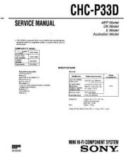 Buy Sony CHR-185X Service Manual by download Mauritron #239058