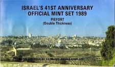 Buy Israel 41st Anniversary Official Mint Piefort Coins Set 1989