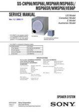 Buy Sony MSP66SR-WMSP66-VE66P Service Manual by download Mauritron #232246