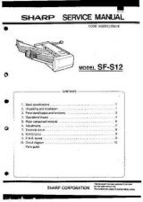 Buy Sharp SFS12S Service Manual by download Mauritron #210579