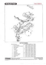 Buy Scalextrix No.356 TVR T400 R Service Sheets by download Mauritron #206478