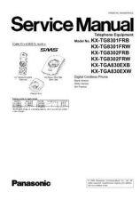 Buy Panasonic KX-TG8301PDB KX-TG8301PDW KX-TGA830FXB KX-TGA830FXW by download Mauritron #