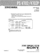 Buy Sony PS-V702-V702P Service Manual by download Mauritron #232288