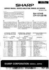Buy Sharp SA107HB-CP107LB-RB SM SUPPLEMENT GB-DE-FR Service Manual by download Mau