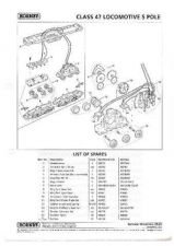 Buy Hornby No.252B Class 47 - 5 Pole Service Sheets by download Mauritron #206998