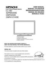 Buy HITACHI CMP4121HDE OPERATING Manual by download Mauritron #230072