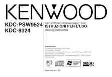 Buy Kenwood KDC-PSW9524 Operating Guide by download Mauritron #222135