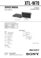 Buy Sony XT-XM1. Service Manual. by download Mauritron #246472