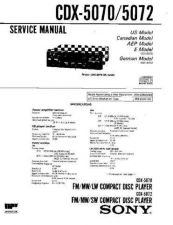 Buy Sony CDX-5070 Service Manual by download Mauritron #237474
