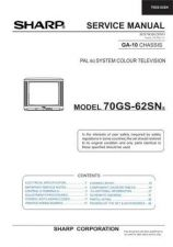 Buy Sharp 70GS62SN-SNS (1) Service Manual by download Mauritron #207950