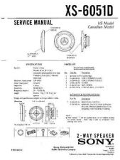 Buy Sony XS-6051D Service Manual. by download Mauritron #246304