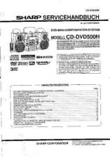 Buy Sharp CDDVD500H SM DE(1) Service Manual by download Mauritron #208596