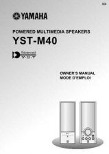 Buy Yamaha YST-M40 Operating Guide by download Mauritron #250398
