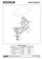 Buy Scalextrix No.387 Audi Boxster Service Sheets by download Mauritron #206539