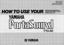 Buy Yamaha TYU40E Operating Guide by download Mauritron #205481