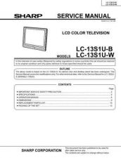 Buy Sharp LC13S1UB(1) Service Manual by download Mauritron #208990