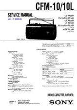 Buy Sony CFM-10-10L Service Manual by download Mauritron #238872