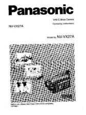 Buy Panasonic NVVX27 Operating Instruction Book by download Mauritron #236312