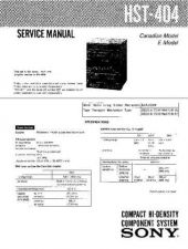 Buy Sony HST-414 Service Information by download Mauritron #237846