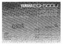 Buy Yamaha EQ-500U Operating Guide by download Mauritron #247888