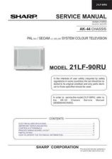 Buy Sharp 21LF90RU (1) Service Manual by download Mauritron #207465