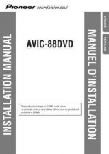 Buy Pioneer 105342385 Installation MANUAL AVIC-88DVD by download Mauritron #223211