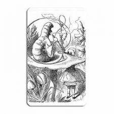 Buy Alice In Wonderland Caterpillar Hookah Art Vinyl Fridge Magnet