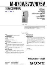 Buy Sony M-670V-673V-675V Service Manual by download Mauritron #232174