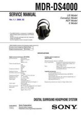 Buy Sony MDR-DS5000 Service Manual. by download Mauritron #242520