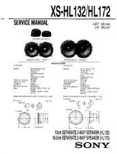 Buy Sony XS-HL132-HL172 Service Manual. by download Mauritron #246366