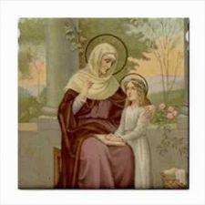 Buy St Anne Patron Saint Of Unmarried Single WomenArt Ceramic Tile