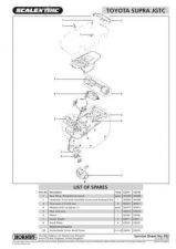 Buy Scalextrix No.392 Toyota Supra JGTC Service Sheets by download Mauritron #20654