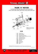 Buy Triang Tri-ang No.001A Mark IV (X04) Motor Service Sheets by download Mauritron