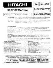 Buy Hitachi 31DX20B Service Manual by download Mauritron #224001