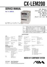 Buy Sony CX-LEM200 Service Manual by download Mauritron #231815