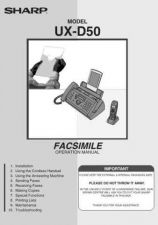 Buy Sharp UXD50273 Service Manual by download Mauritron #210676