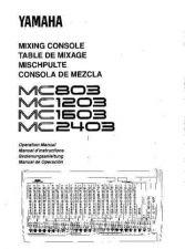 Buy Yamaha MC803E Operating Guide by download Mauritron #248643