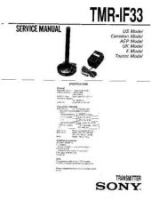 Buy Sony TMR-IF330R Service Manual. by download Mauritron #245567