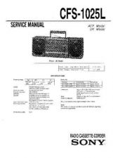 Buy Sony CFS-1025S Service Manual by download Mauritron #238896