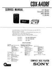 Buy Sony CDX-A30Service Manual by download Mauritron #237572