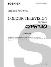 Buy TOSHIBA 43PH14Q ENGLISH Service Schematics Service Information by download #114