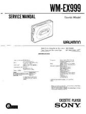 Buy Sony WM-EX999 Service Manual. by download Mauritron #245690