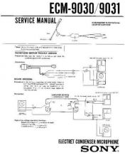 Buy Sony ECM-9030-9031 Service Manual by download Mauritron #240572