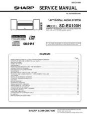 Buy Sharp SDEX100H Service Manual by download Mauritron #209601