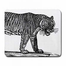 Buy Tiger Black and White Art Computer Mousepad Mouse Pad