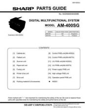 Buy Sharp AM-400SG Technical Information by download Mauritron #232628