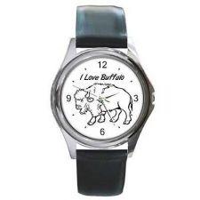 Buy I Love Buffalo Round Wrist Watch